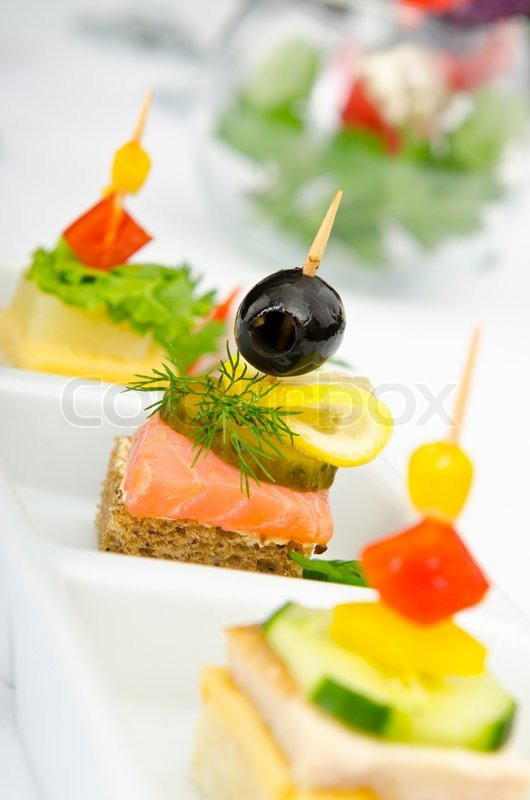 Canape served in the plate stock photo colourbox for What is a canape plate