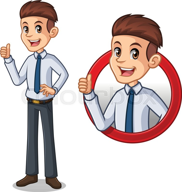 set of businessman in shirt cartoon stock vector colourbox set of businessman in shirt cartoon