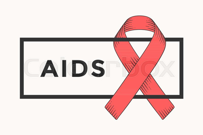 Poster And Banner With Text Aids And Red Ribbon World Aids Day