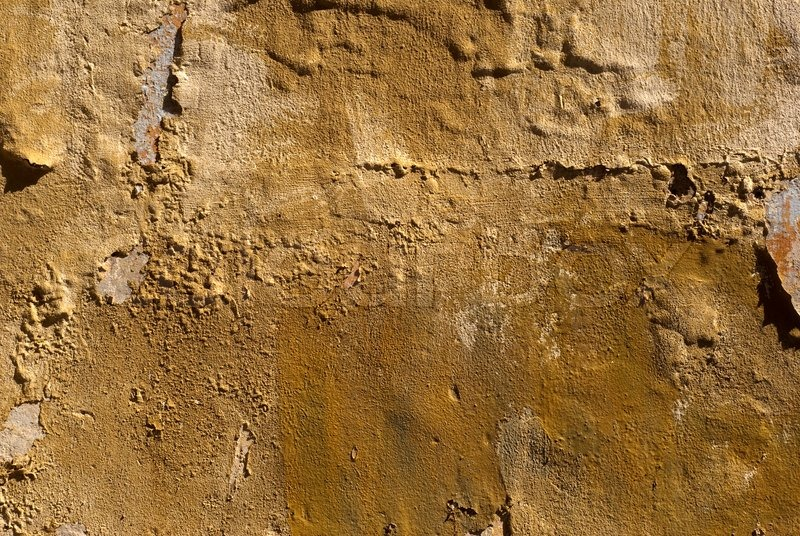 Brown Textured Concrete : Brown concrete wall texture with old grunge paint stock