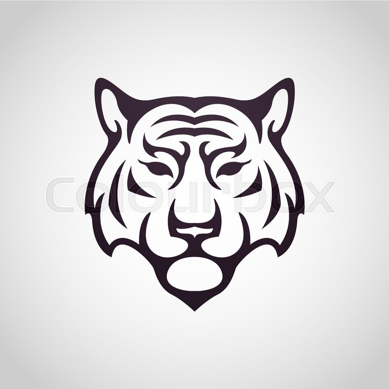tiger vector logo icon illustration stock vector colourbox rh colourbox com tiger vector free download tiger vector image