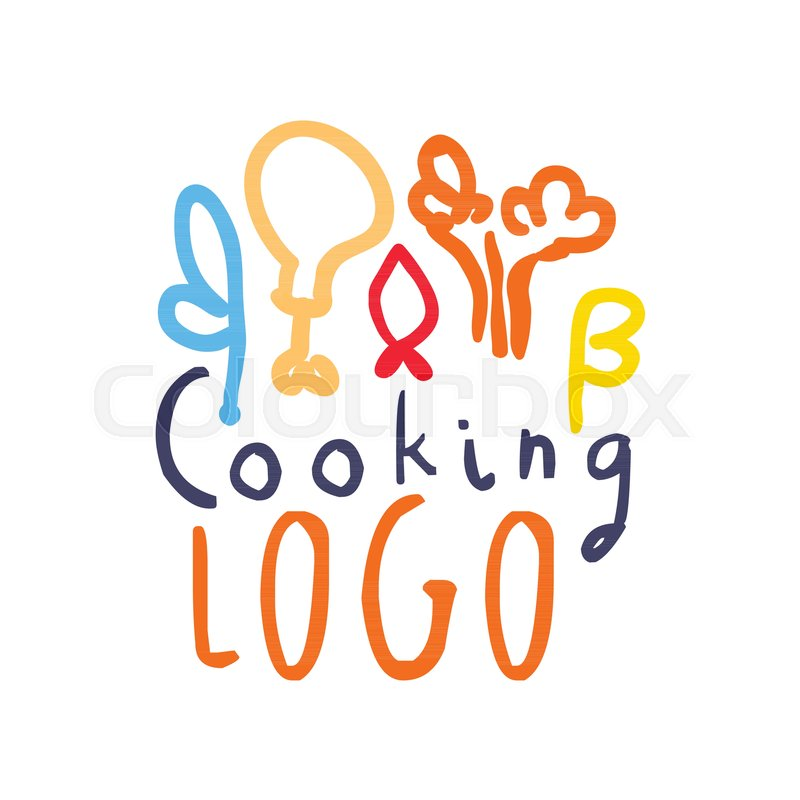 Handmade Badge Design For Cooking Class Hand Drawn Logo With Abstract Food Decor Label Club Culinary School Studio Or Home Kitchen