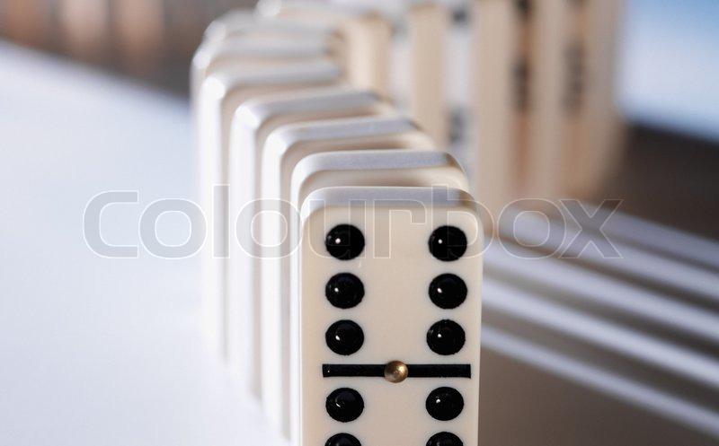 Domino Effect, stock photo