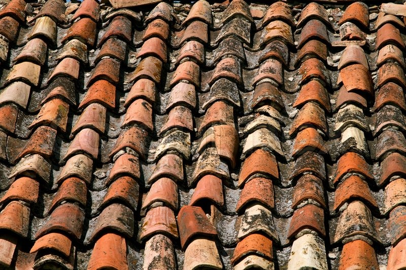 Texture Of Old Tiled Roof Stock Photo Colourbox
