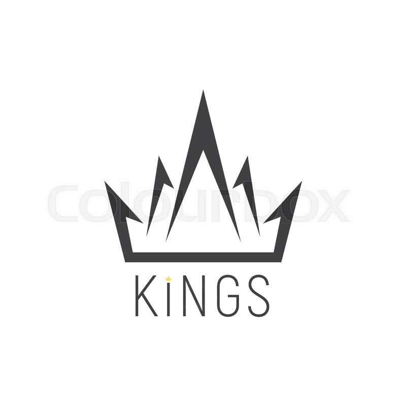 king logo crown emblem on a white background vector