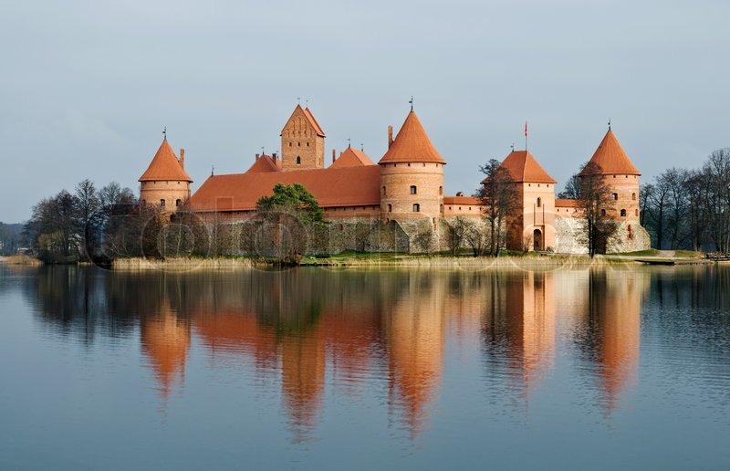 Medieval Castle In Trakai Lithuania Stock Photo Colourbox