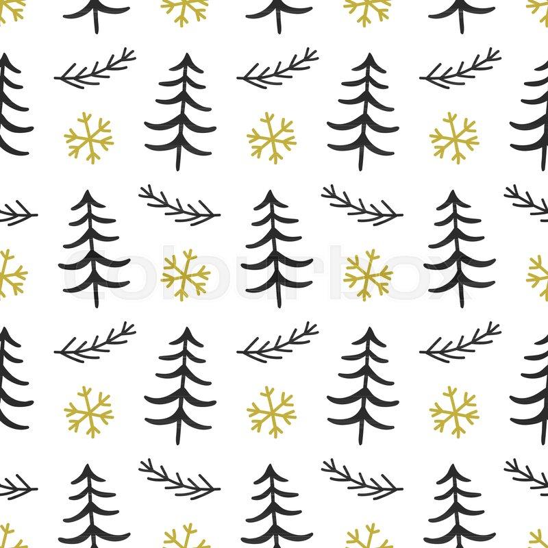 Scandinavian Forest Trees Nordic Stock Vector Colourbox