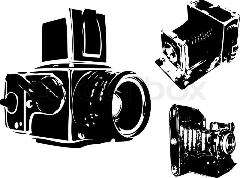 Camera Vintage Vector Free : Snap black digital camera stock vector colourbox photos on pinterest