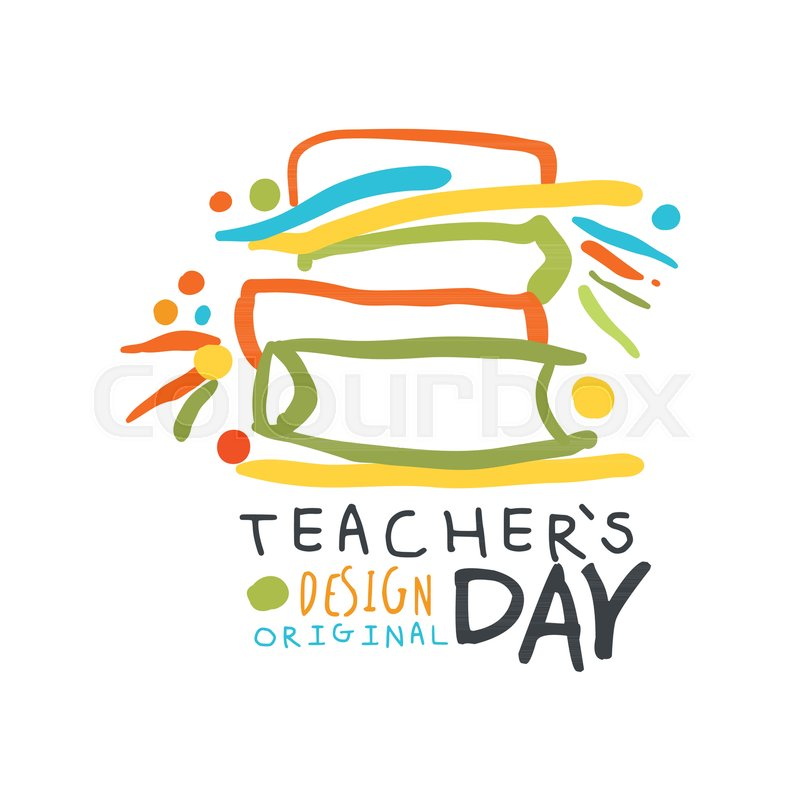 Happy Teachers Day greeting card with       Stock vector