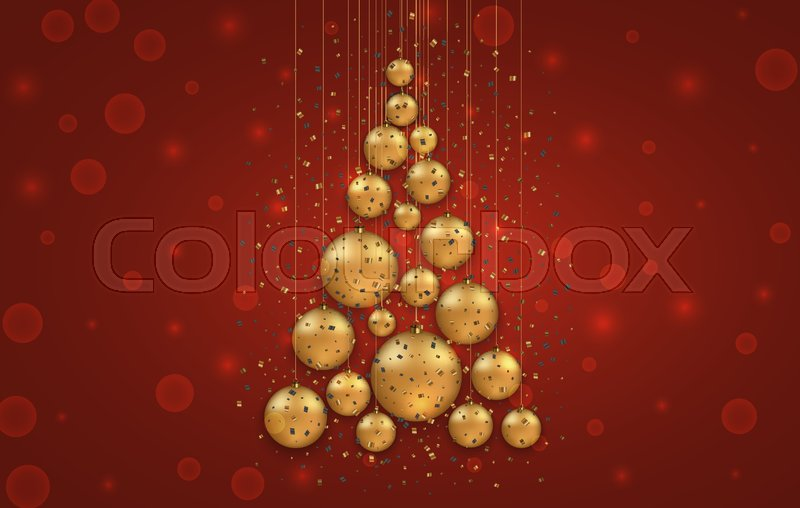 Christmas Invitation Background Gold.Vector Modern Christmas Or 2018 Happy Stock Vector