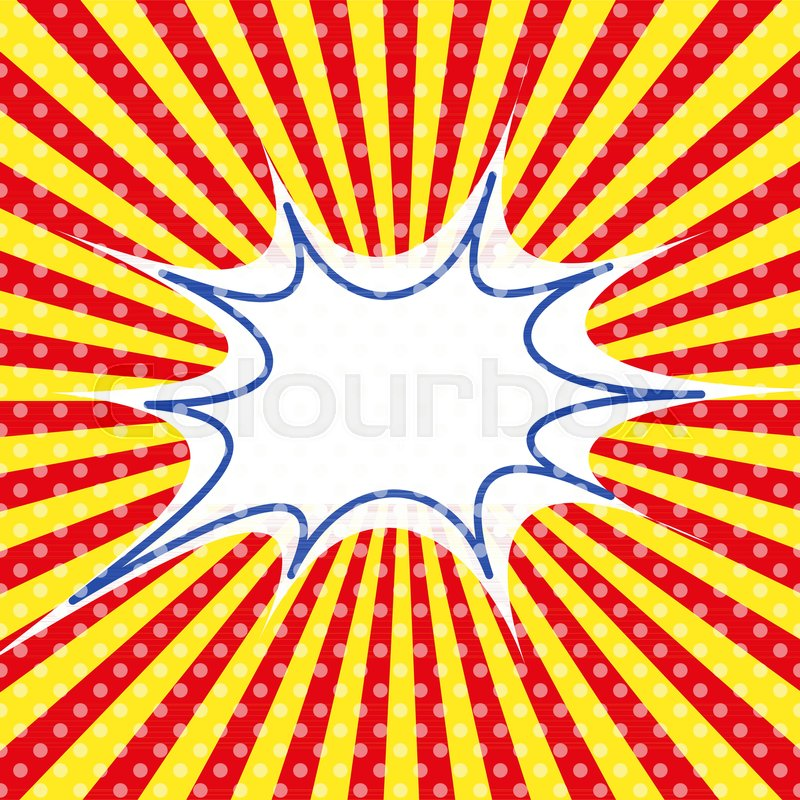 pop art template retro sunburst ray in vintage style old circus