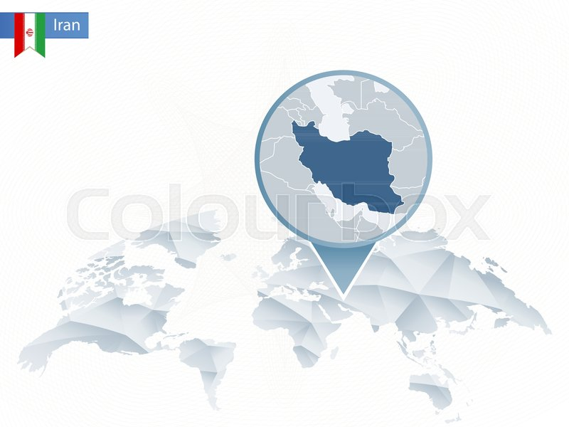 Abstract rounded world map with pinned detailed iran map vector abstract rounded world map with pinned detailed iran map vector illustration stock vector colourbox gumiabroncs Images