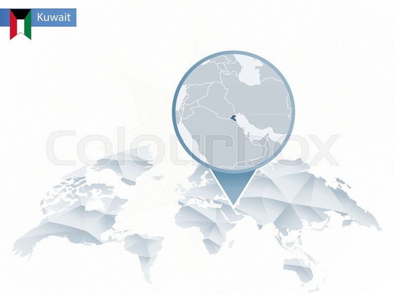 Abstract rounded World Map with pinned ... | Stock vector ...