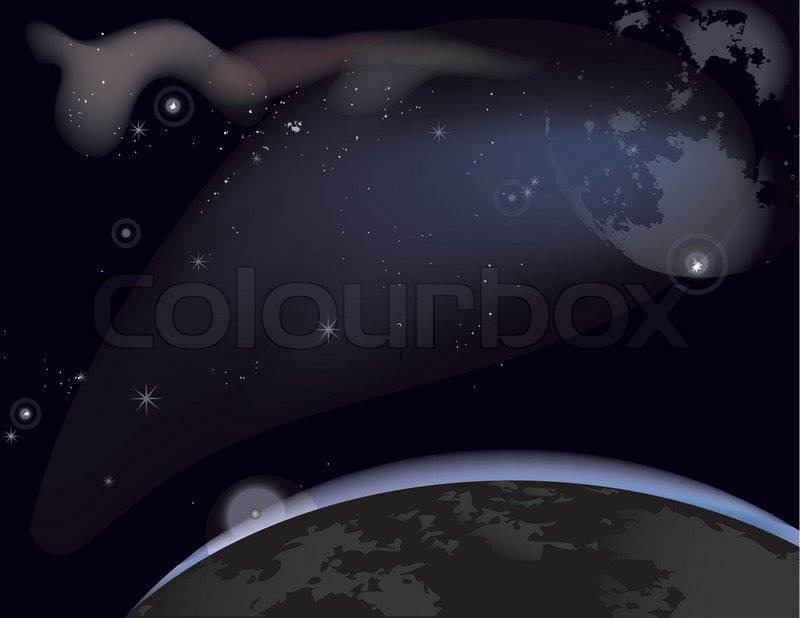 starry sky with planets - photo #48
