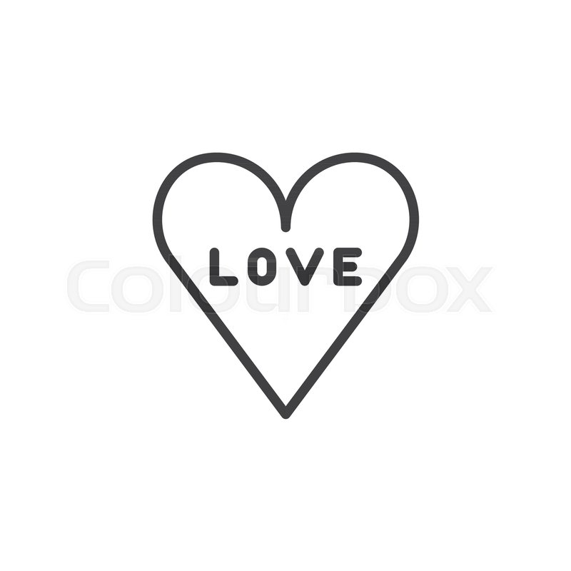 Love In Heart Line Icon Outline Vector Sign Linear Style Pictogram