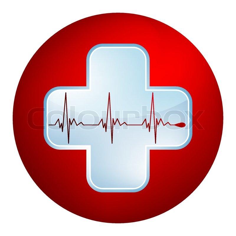 Heart And Heartbeat Symbol Stock Vector Colourbox