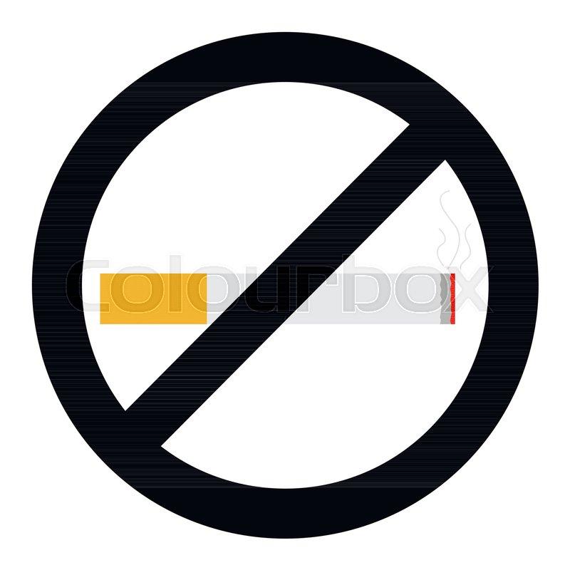 no smoke sign no smoking icon vector safety sign cigarette no