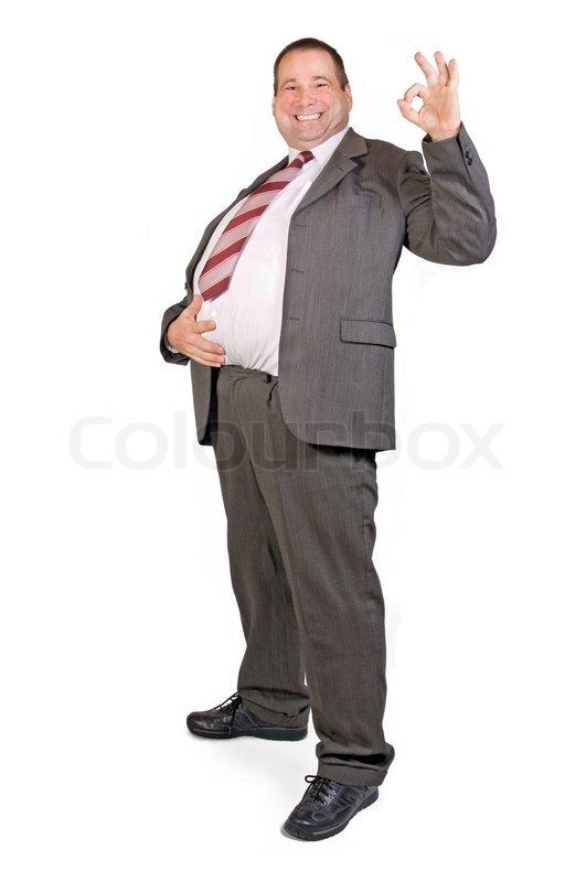 d97e3d9c08 Happy fat businessman