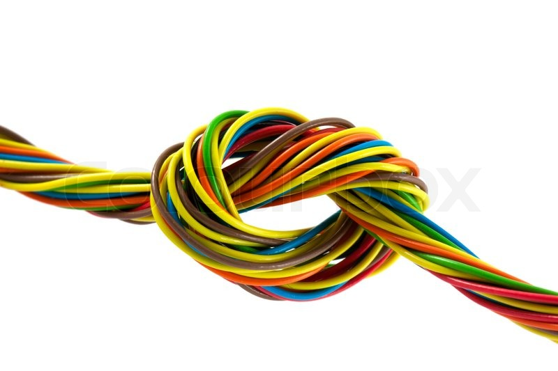 Color wires isolated on white background | Stock Photo | Colourbox