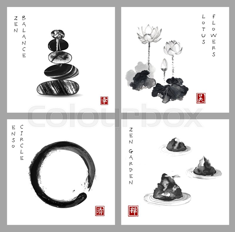 Symbol Of Zen Zen Balance Enso Zen Stock Vector Colourbox