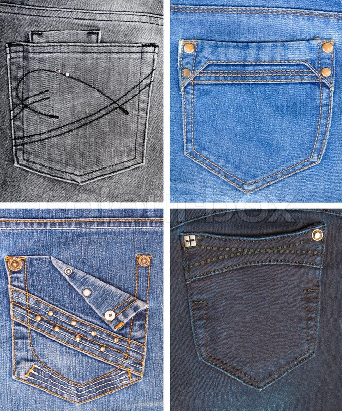 Jeans Back Pocket Texture A collection of jeans ...