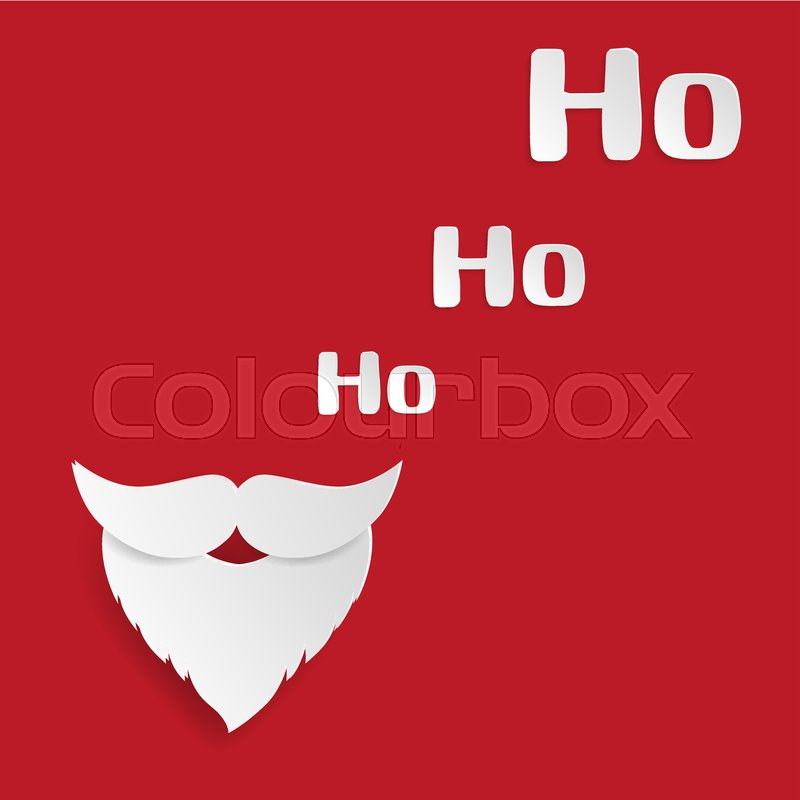 Merry Christmas and Happy New Year greeting card. Santa Claus ...