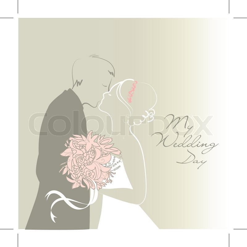Bride And Groom Wedding Background Stock Vector Colourbox