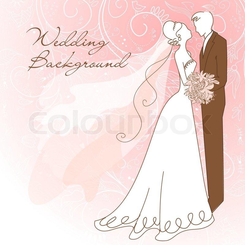 Wedding Background Stock Vector Colourbox