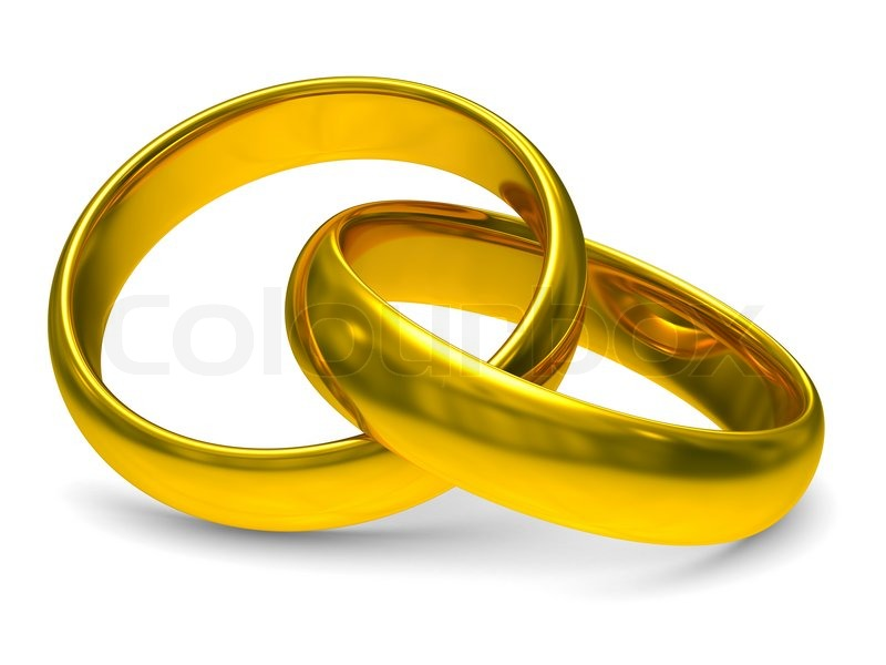 Two Gold Wedding Rings Isolated 3d Image Stock Photo Colourbox