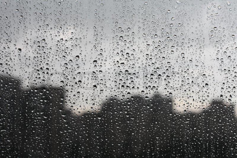 rain on window stock photo colourbox. Black Bedroom Furniture Sets. Home Design Ideas