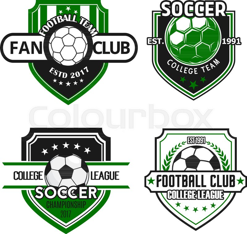 Soccer Fan Club Or Football Sport Game Team Heraldic Icon Templates