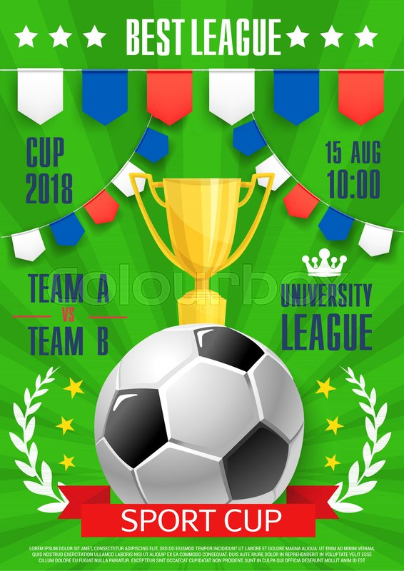 Soccer Best College League Award Poster Template For Football