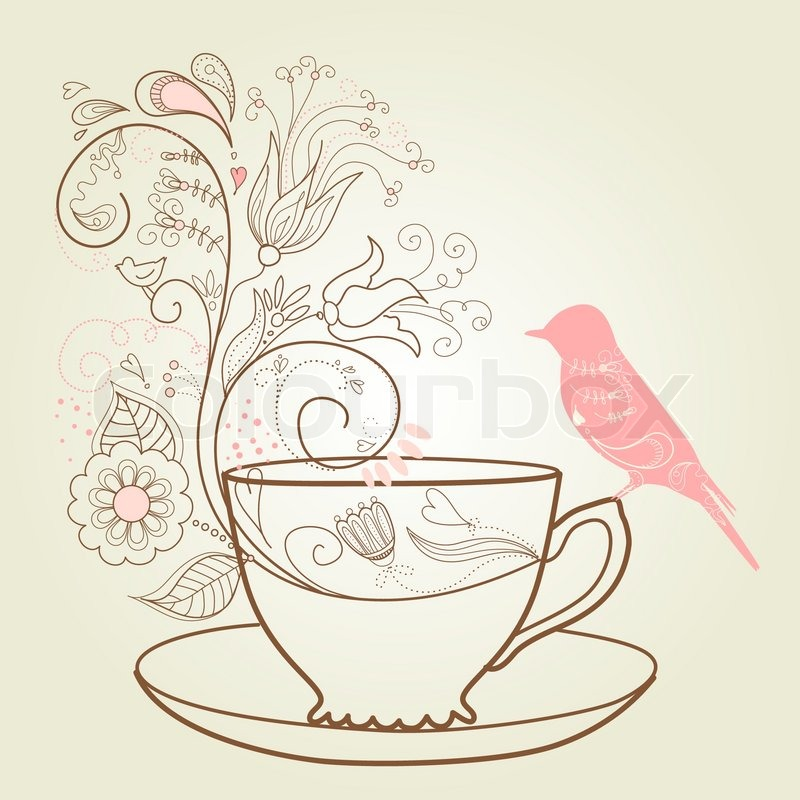 Kitchen Tea Background: Afternoon Tea Concept