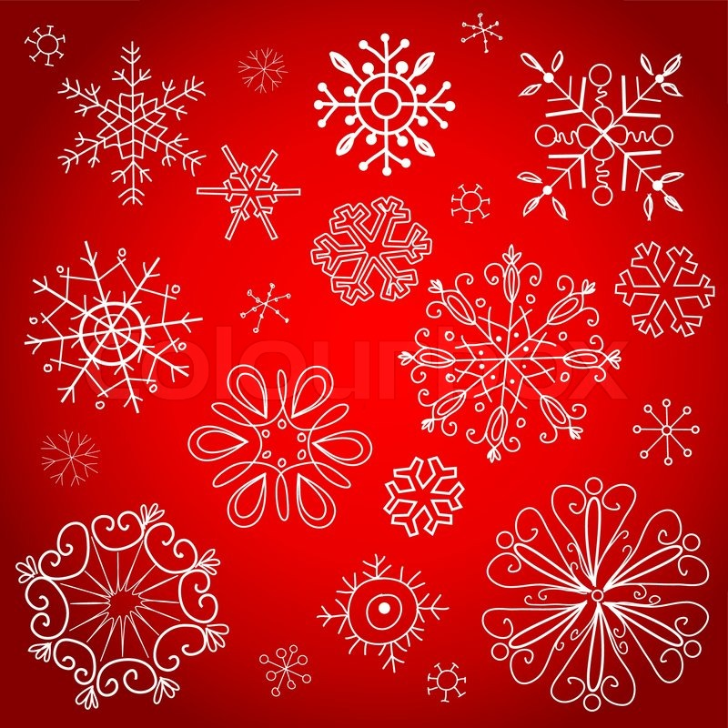 red christmas background vector illustration vector - Red Christmas Background