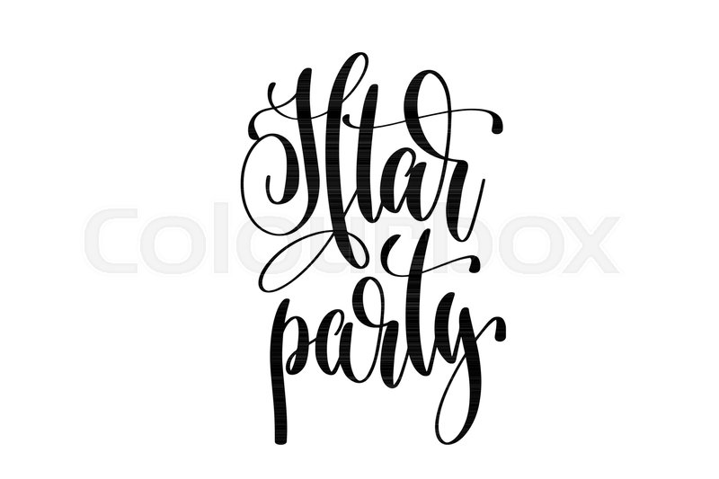 Iftar party hand lettering event invitation inscription black and iftar party hand lettering event invitation inscription black and white calligraphy vector illustration vector stopboris Image collections