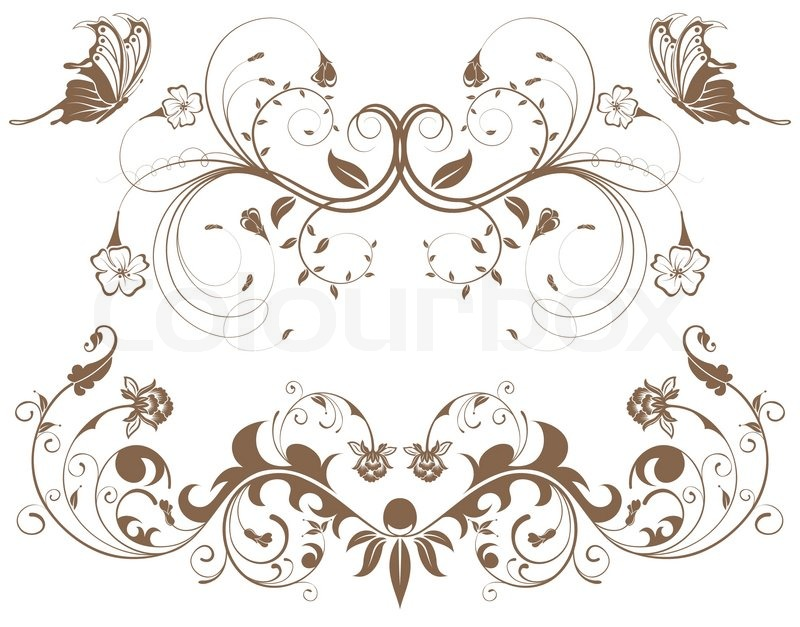 ... border with butterfly, element for design, vector illustration, vector