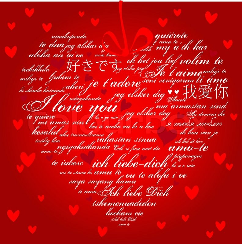 Say i love you in many languages stock vector colourbox m4hsunfo