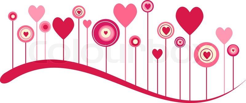 Cute Vector Valentine Background Stock Vector Colourbox