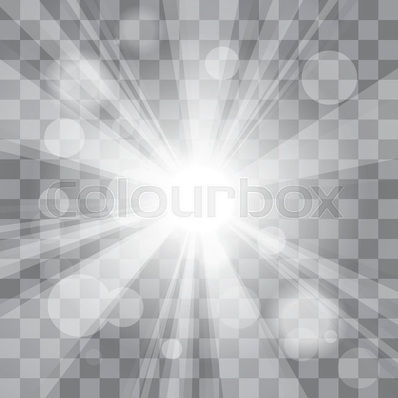 Bright White Abstract Festive Bokeh Flare Effect On Transparency Background