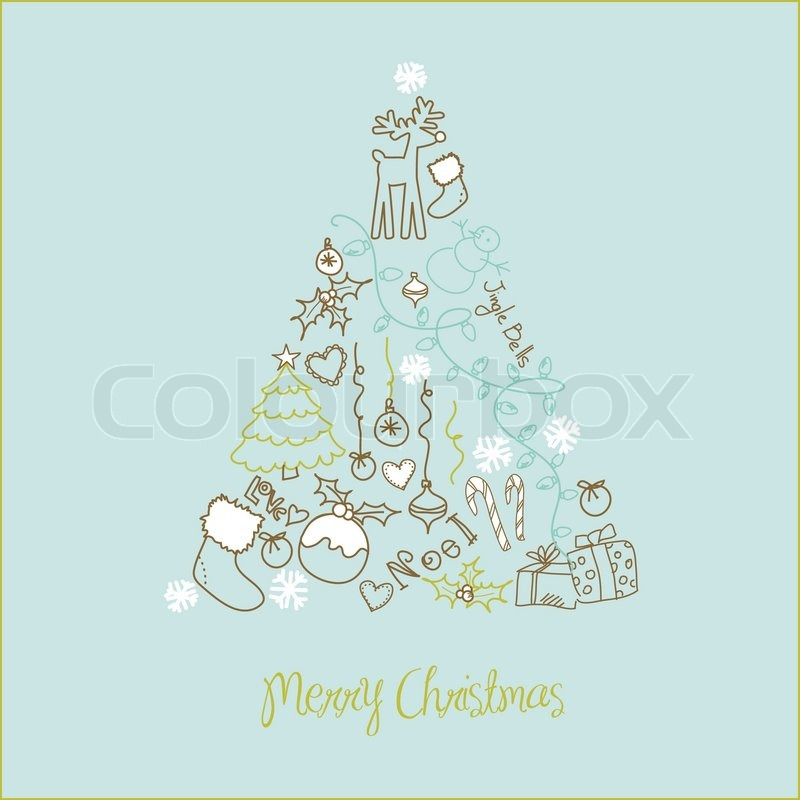 Weihnachtsbaum Comic.Weihnachtsbaum Aus Der Comic Urlaub Stock Vektor Colourbox