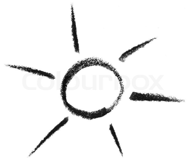 Sun and light sketch | Stock Photo | Colourbox