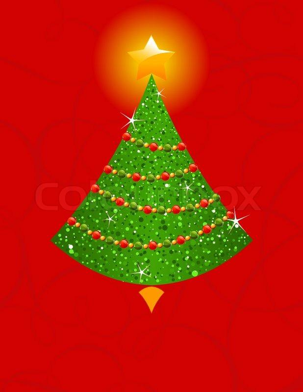 Urlaub hintergrund mit weihnachtsbaum stock vektor - Weihnachtsbaum vektor ...