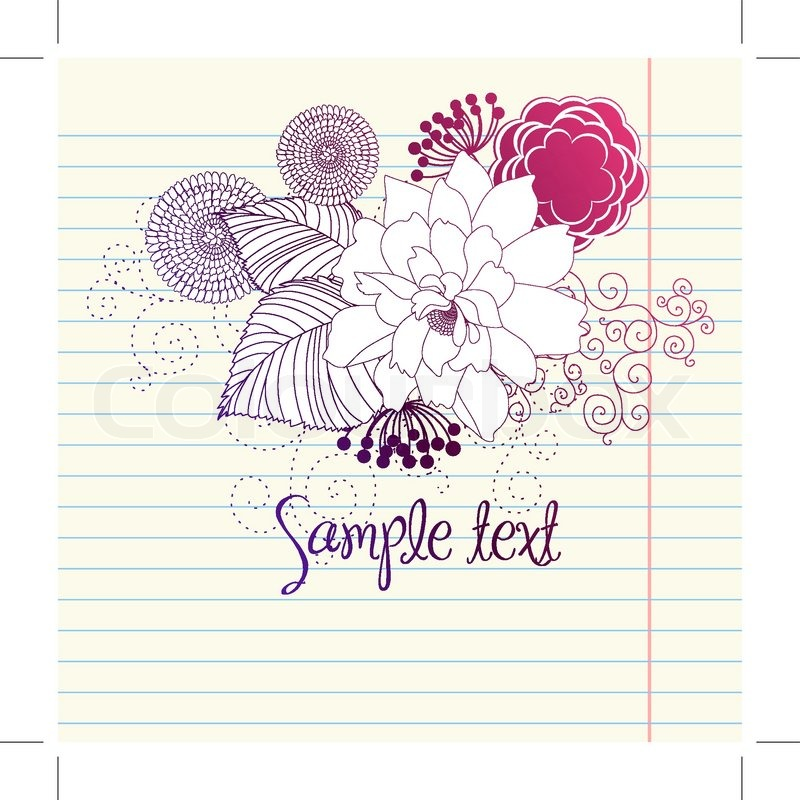 Hand drawn flowers sketchy notebook doodles design element on graph hand drawn flowers sketchy notebook doodles design element on graph paper stock vector colourbox mightylinksfo