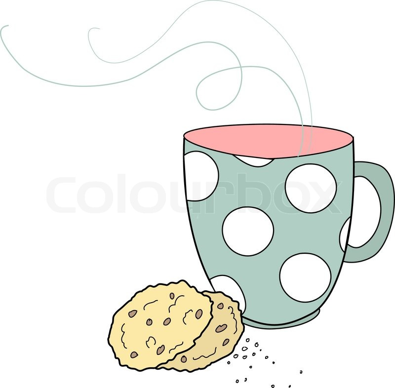 Nice Cup Of Tea And A Biscuits Stock Vector Colourbox