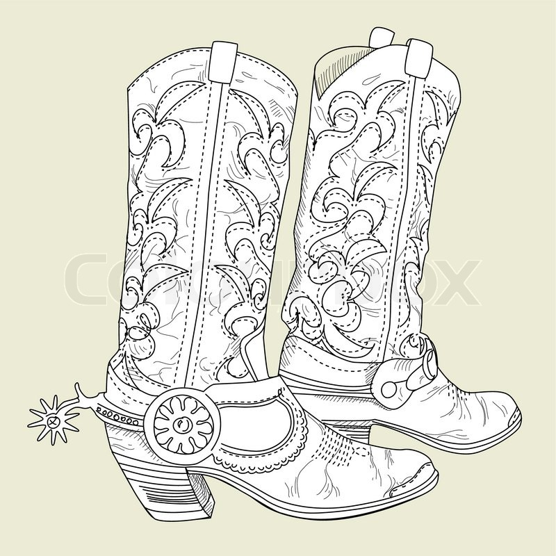 Old Cowboy boots | Stock Vector | Colourbox