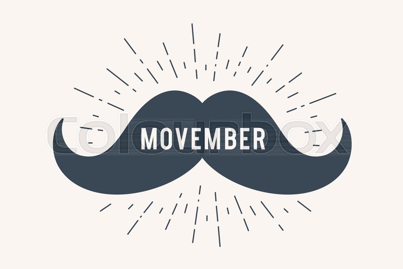Poster And Banner With Text Movember And Mustache Classic Graphic