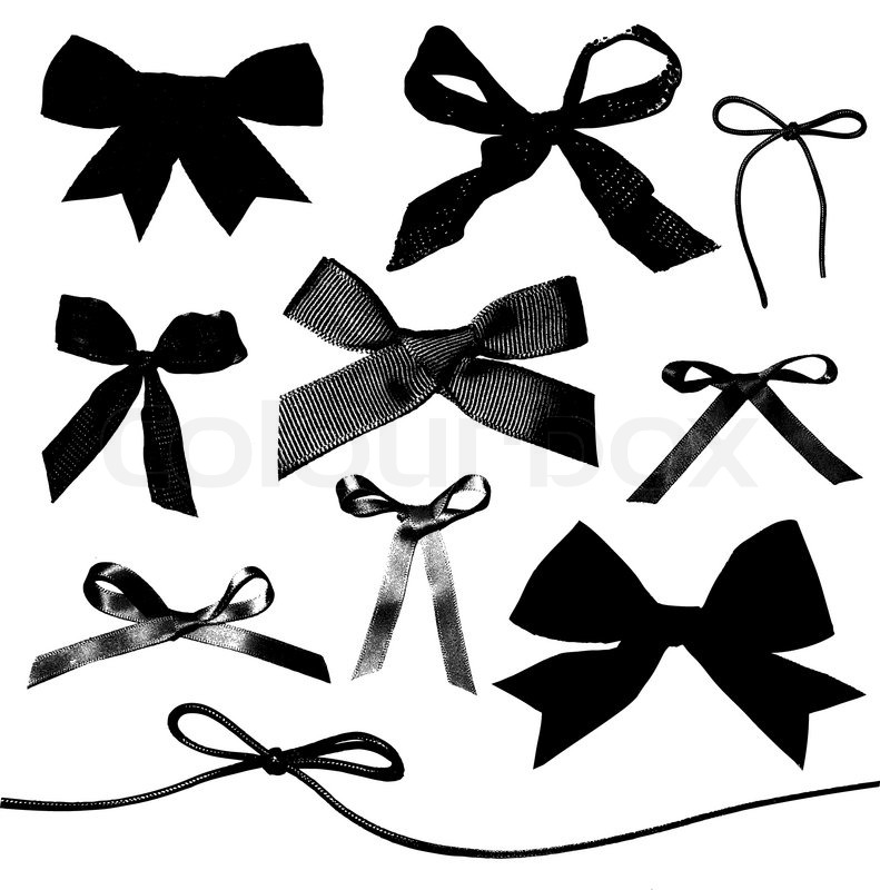 Bows and Ribbons isolated on white background | Stock ...