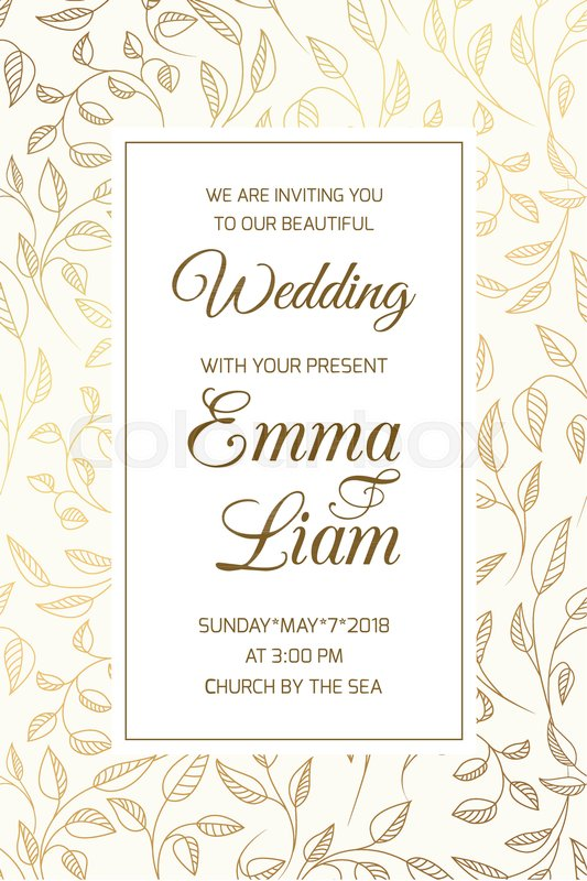Wedding Marriage Event Invitation RSVP Card Template Swirly Curly - Rsvp card template