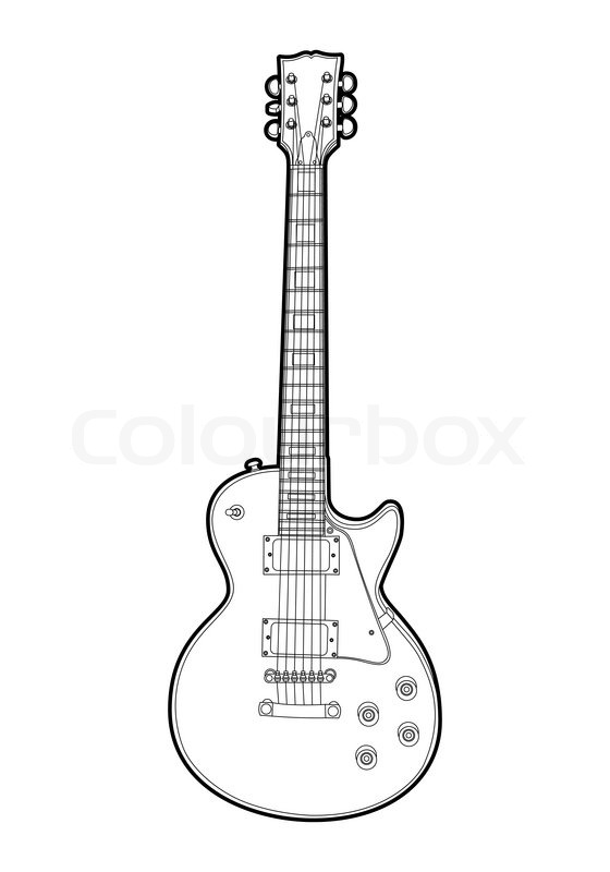 electric vector guitar on white background | stock vector | colourbox