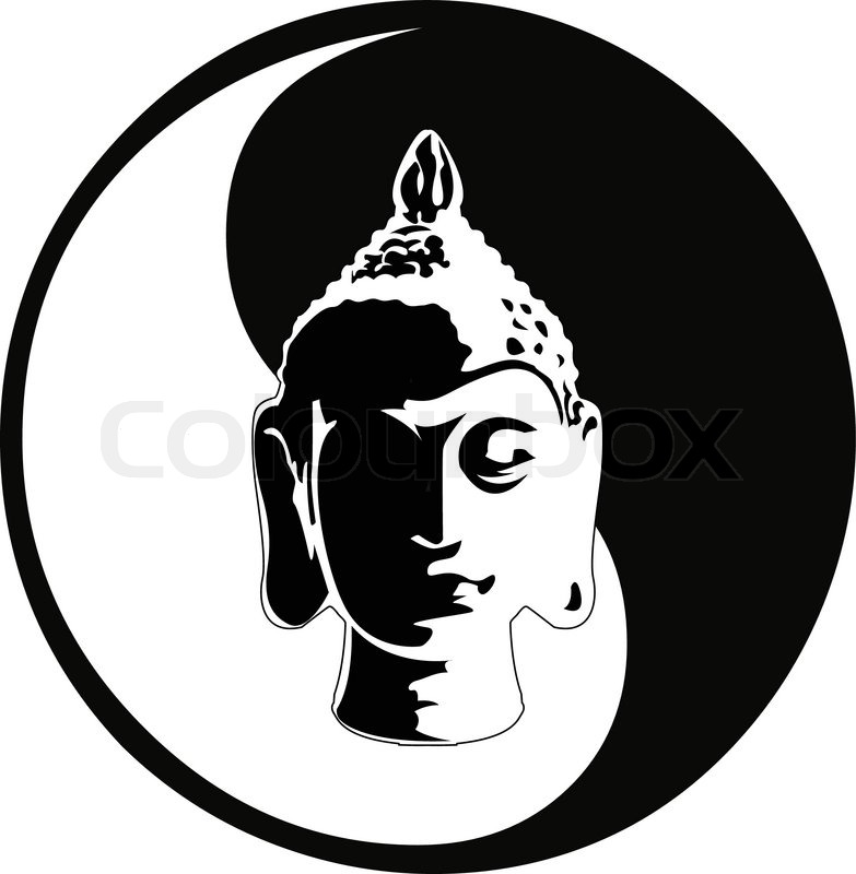 the vector buddha head | stock vector | colourbox